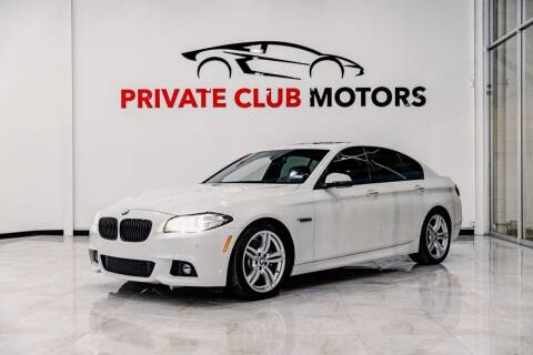 2016 BMW 5 Series for sale at Private Club Motors in Houston TX