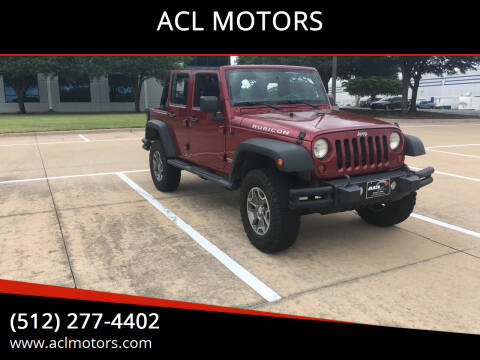 2013 Jeep Wrangler Unlimited for sale at ACL MOTORS in Austin TX