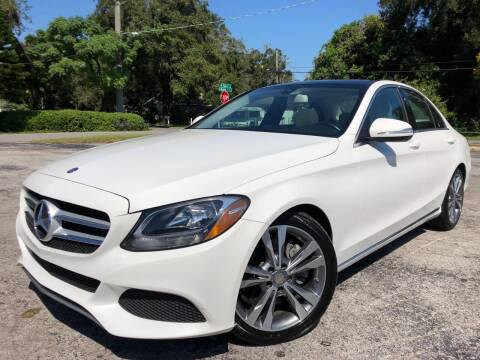 2015 Mercedes-Benz C-Class for sale at LUXURY AUTO MALL in Tampa FL