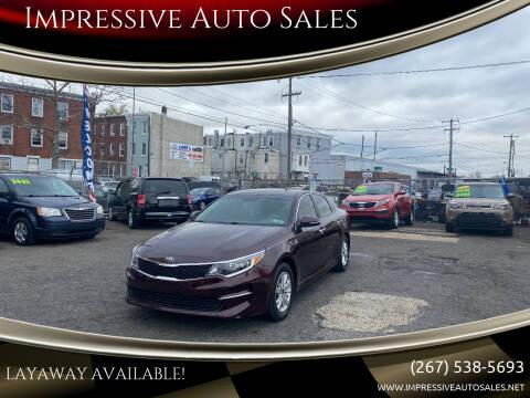 2016 Kia Optima for sale at Impressive Auto Sales in Philadelphia PA