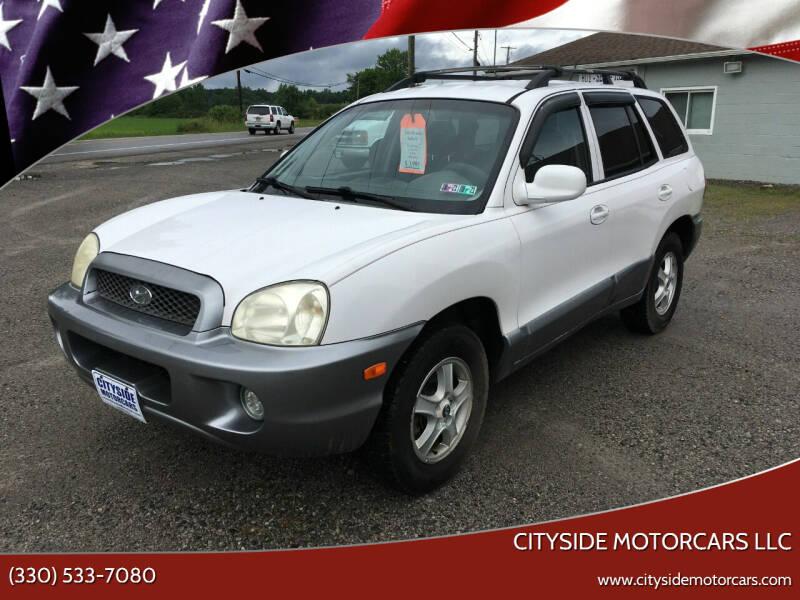 2004 Hyundai Santa Fe for sale at CITYSIDE MOTORCARS LLC in Canfield OH