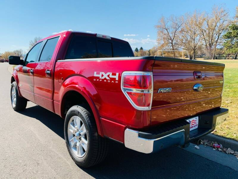 2013 Ford F-150 4x4 Lariat 4dr SuperCrew Styleside 6.5 ft. SB - Denver CO