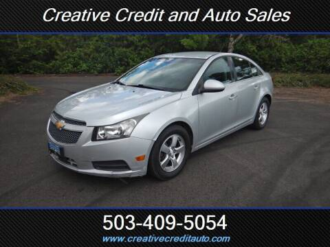 2012 Chevrolet Cruze for sale at Creative Credit & Auto Sales in Salem OR