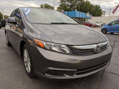 2012 Honda Civic for sale at GREAT DEALS ON WHEELS in Michigan City IN