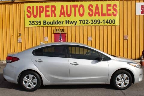 2018 Kia Forte for sale at Super Auto Sales in Las Vegas NV