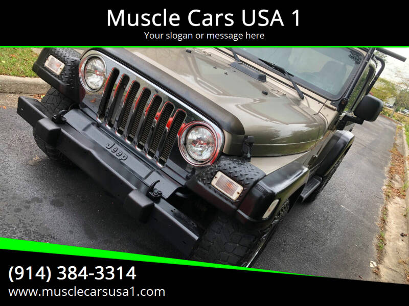 2003 Jeep Wrangler for sale at Muscle Cars USA 1 in Murrells Inlet SC