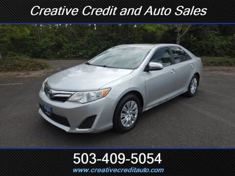 2013 Toyota Camry for sale at Creative Credit & Auto Sales in Salem OR