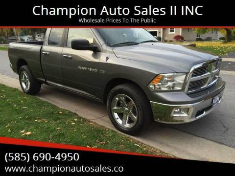 2012 RAM Ram Pickup 1500 for sale at Champion Auto Sales II INC in Rochester NY