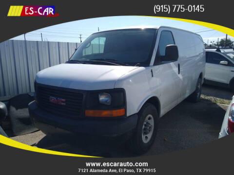 2012 GMC Savana Cargo for sale at Escar Auto in El Paso TX