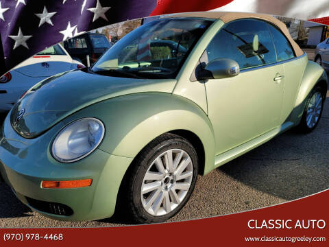 2008 Volkswagen New Beetle Convertible for sale at Classic Auto in Greeley CO