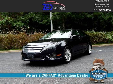2012 Ford Fusion for sale at Zed Motors in Raleigh NC