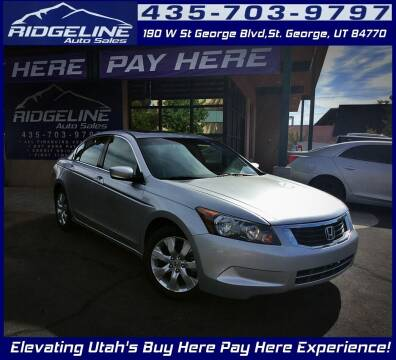 2008 Honda Accord for sale at Ridgeline Auto Sales in Saint George UT