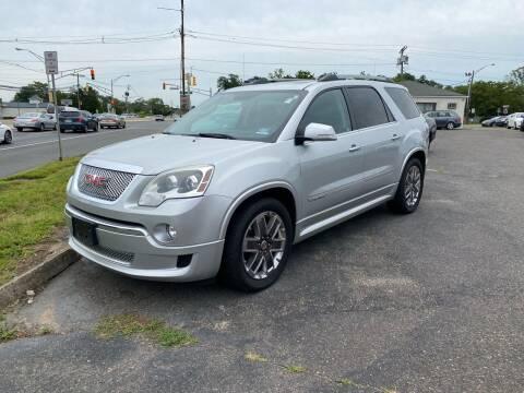 2012 GMC Acadia for sale at Union Avenue Auto Sales in Hazlet NJ