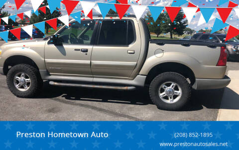 2002 Ford Explorer Sport Trac for sale at Preston Hometown Auto in Preston ID