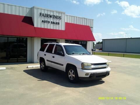 2002 Chevrolet TrailBlazer for sale at Fairwinds Auto Sales in Dewitt AR
