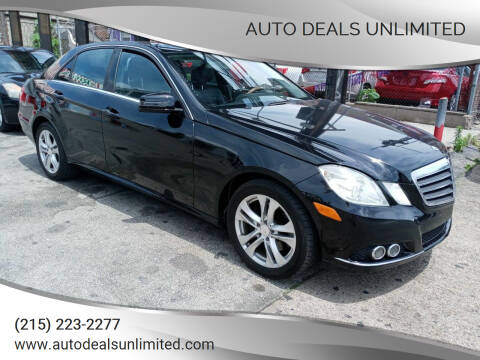 2011 Mercedes-Benz E-Class for sale at AUTO DEALS UNLIMITED in Philadelphia PA