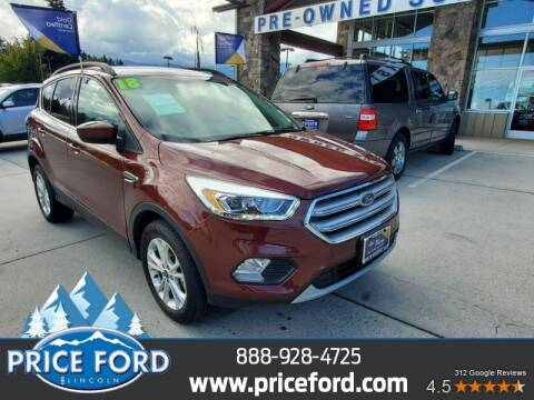 2018 Ford Escape for sale at Price Ford Lincoln in Port Angeles WA
