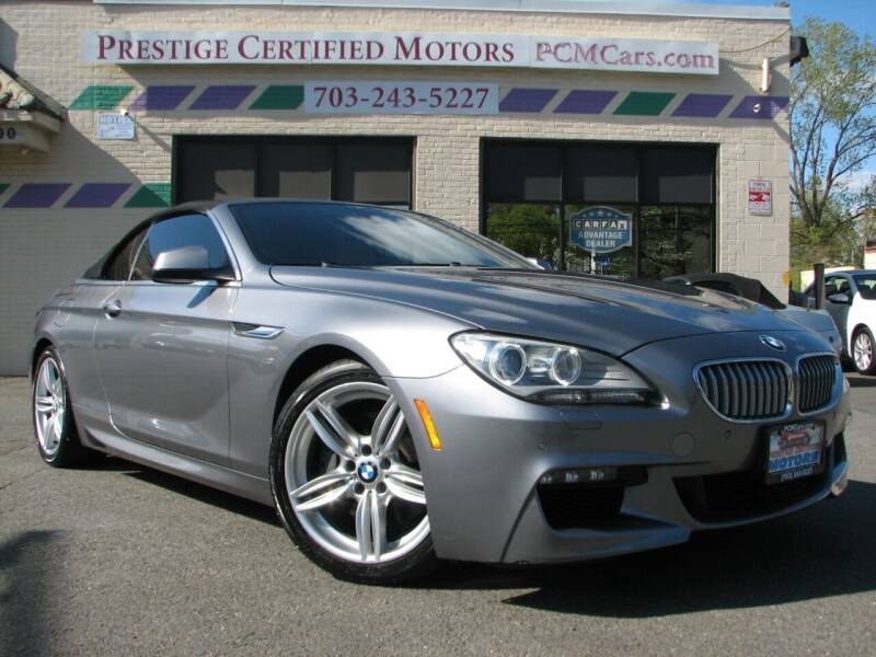 2012 BMW 6 Series for sale at Prestige Certified Motors in Falls Church VA