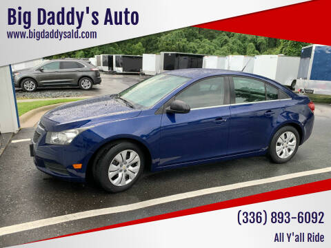 2012 Chevrolet Cruze for sale at Big Daddy's Auto in Winston-Salem NC