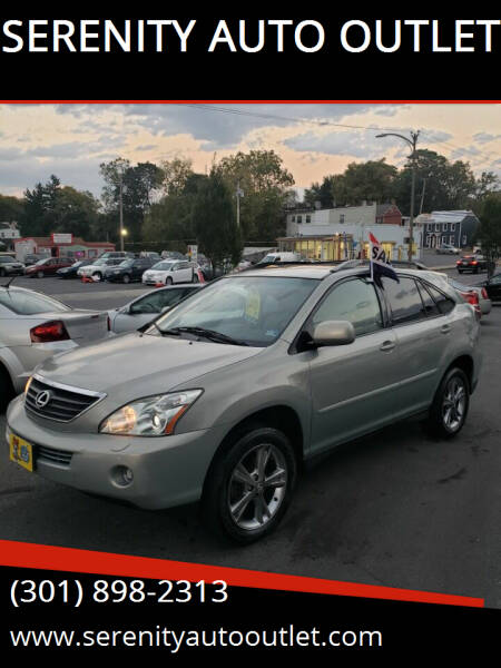 2006 Lexus RX 400h for sale at SERENITY AUTO OUTLET in Frederick MD