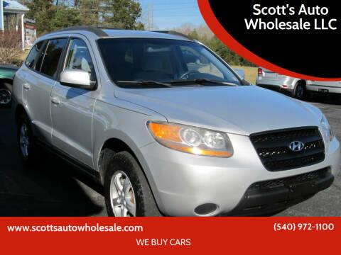 2008 Hyundai Santa Fe for sale at Scott's Auto Wholesale LLC in Locust Grove VA