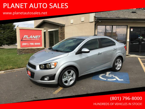 2015 Chevrolet Sonic for sale at PLANET AUTO SALES in Lindon UT