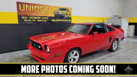 1978 Ford Mustang for sale at UNIQUE SPECIALTY & CLASSICS in Mankato MN