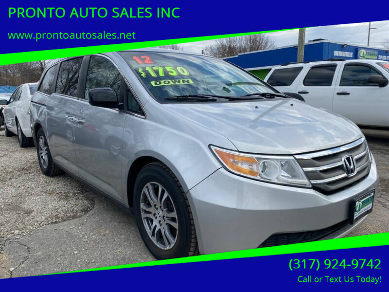2012 Honda Odyssey for sale at PRONTO AUTO SALES INC in Indianapolis IN