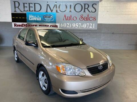 2006 Toyota Corolla for sale at REED MOTORS LLC in Phoenix AZ