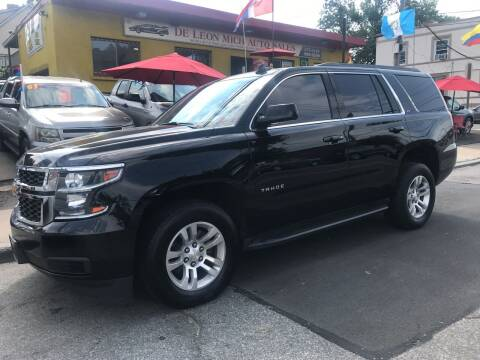 2017 Chevrolet Tahoe for sale at Deleon Mich Auto Sales in Yonkers NY