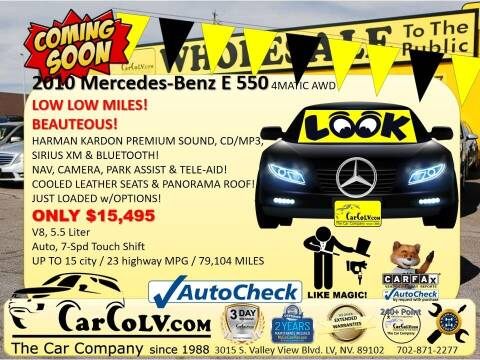 2010 Mercedes-Benz E-Class for sale at The Car Company in Las Vegas NV
