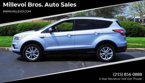 2017 Ford Escape for sale at Millevoi Bros. Auto Sales in Philadelphia PA