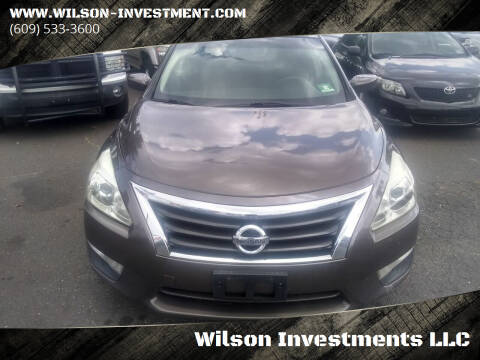 2013 Nissan Altima for sale at Wilson Investments LLC in Ewing NJ