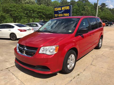 2013 Dodge Grand Caravan for sale at Oceana Motors in Virginia Beach VA