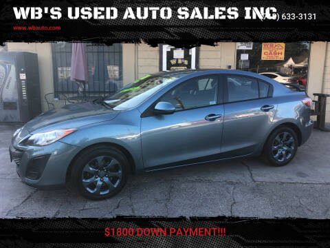 2011 Mazda MAZDA3 for sale at WB'S USED AUTO SALES INC in Houston TX