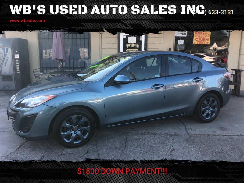 2011 Mazda MAZDA3 for sale at WB'S USED AUTO SALES INC in Houston TX