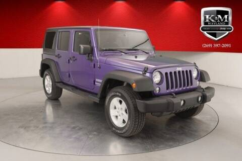 2018 Jeep Wrangler JK Unlimited for sale at K&M Wayland Chrysler  Dodge Jeep Ram in Wayland MI