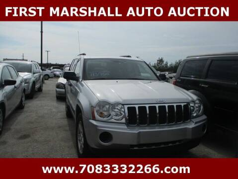 2006 Jeep Grand Cherokee for sale at First Marshall Auto Auction in Harvey IL