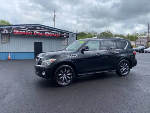 2012 Infiniti QX56 for sale at Sisson Pre-Owned in Uniontown PA