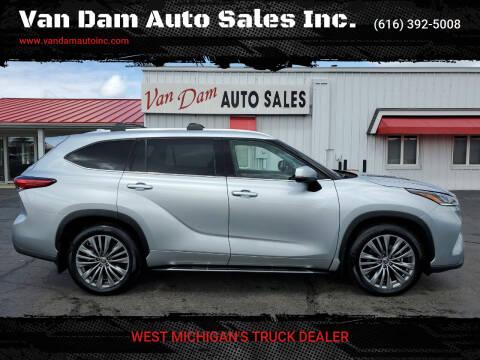 2020 Toyota Highlander for sale at Van Dam Auto Sales Inc. in Holland MI