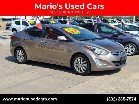 2014 Hyundai Elantra for sale at Mario's Used Cars in Houston TX