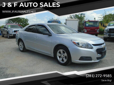 2015 Chevrolet Malibu for sale at J & F AUTO SALES in Houston TX