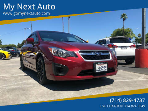 2013 Subaru Impreza for sale at My Next Auto in Anaheim CA