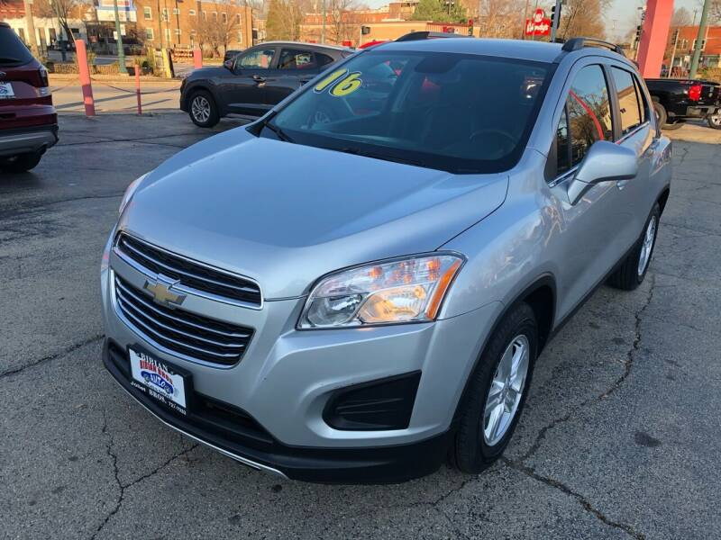 2016 Chevrolet Trax for sale at Bibian Brothers Auto Sales & Service in Joliet IL