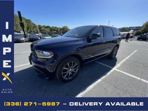 2018 Dodge Durango for sale at Impex Auto Sales in Greensboro NC