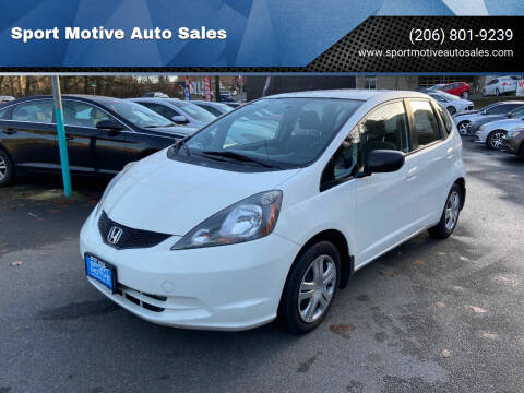 2009 Honda Fit for sale at Sport Motive Auto Sales in Seattle WA