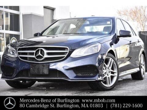 2014 Mercedes-Benz E-Class for sale at Mercedes Benz of Burlington in Burlington MA