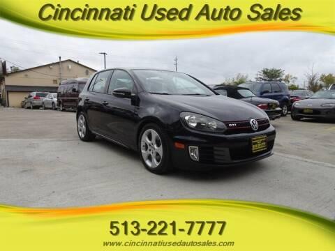 2010 Volkswagen GTI for sale at Cincinnati Used Auto Sales in Cincinnati OH