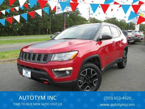 2019 Jeep Compass for sale at AUTOTYM INC in Fredericksburg VA