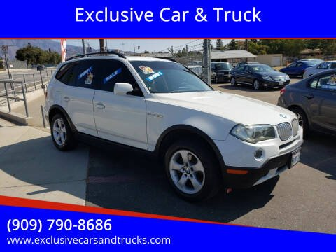 2007 BMW X3 for sale at Exclusive Car & Truck in Yucaipa CA